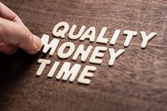 Quality Money and Time stock photography