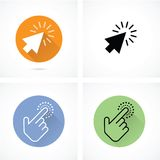 Hand and arrow cursor Royalty Free Stock Image