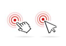 Hand arrow cursor vector icon. S set Royalty Free Stock Image