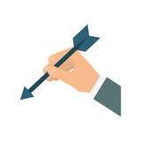Hand and arrow icon. Solution design. Vector graphic Royalty Free Stock Photos