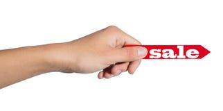 Hand arrow Stock Image