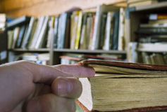 Hand  As A Book Tab Royalty Free Stock Image