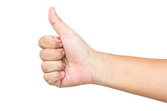 Hand Of Asian Man Giving Like. Royalty Free Stock Image