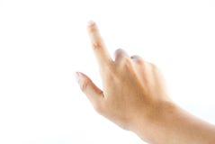 Hand auf dem lokalisierten Hintergrund Stockfotografie