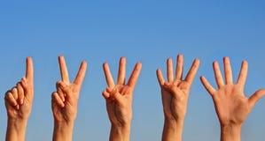 Hand auf Himmel Lizenzfreie Stockfotografie