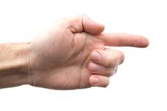Hand auf weißem Hintergrund Stockbilder