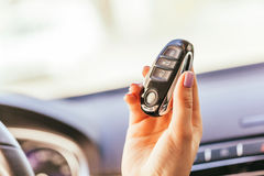 Hand with automobile's keys Stock Images