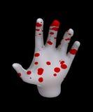 Hand av blod Royaltyfria Bilder