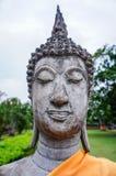 Hand av Buddha i Ayutthaya Thailand Arkivfoton