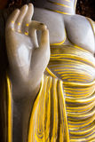 Hand av Buddhabilden Arkivbild