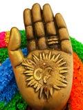 Hand av den hinduiska guden Arkivbilder