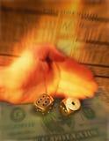 Hand av hasardspelarerullningstärning Royaltyfria Bilder