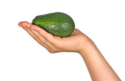 Hand with avocado Royalty Free Stock Photos
