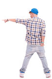 Hand in back pocket & pointing Stock Photos