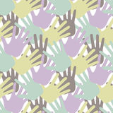 Seamless hand pattern and background vector illustration Royalty Free Stock Image