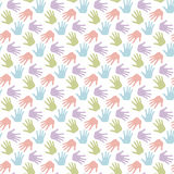 Seamless hand pattern and background vector illustration Royalty Free Stock Images
