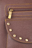 Hand bag. Part of the hand bag focused on zip Royalty Free Stock Photo