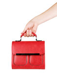 Hand with bag isolated on white background.  Stock Photos