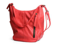 Hand bag. Red hand bag on isolated background stock photo