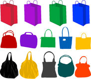 Hand-bag , vector work Stock Image