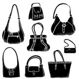 Hand bags fashion set. Stock Image