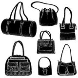Hand bags fashion set. Royalty Free Stock Photos