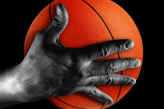 Hand with ball Stock Photos