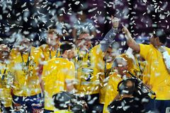 Hand Ball League Cup Final 2015 Royalty Free Stock Photo