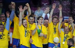 Hand Ball League Cup Final 2015 Royalty Free Stock Images