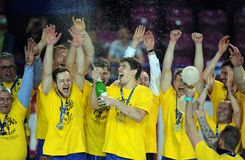 Hand Ball League Cup Final 2015 Stock Images