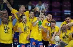 Hand Ball League Cup Final 2015 Stock Image