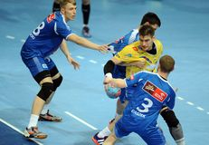 Hand Ball League Cup Final 2015 Royalty Free Stock Photos