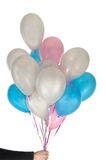 Hand and balloons Royalty Free Stock Photo