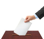Hand with ballot and box Stock Photography