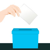Hand Ballot Voting Stock Photos