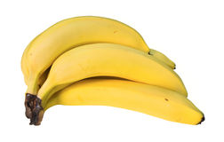Hand of Bananas. Picture of a hand of bananas with a clipping path Royalty Free Stock Photo