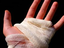 Hand bandage royalty free stock photos