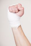 Hand with a bandage Royalty Free Stock Photo