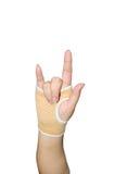 Hand bandage Stock Image