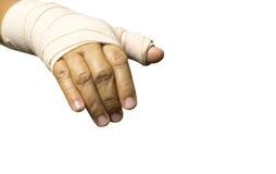 Hand bandage Isolated on white background Royalty Free Stock Images