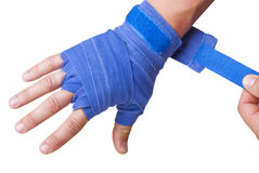 Hand in a bandage Royalty Free Stock Photo