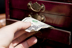 Hand with banknote Royalty Free Stock Photo