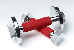 Hand barbells. On white background Stock Images