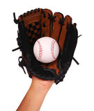 Hand of Baseball Player with Glove isolated Royalty Free Stock Images