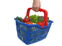 Hand with basket Stock Image