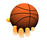 Hand with basket ball isolated on Royalty Free Stock Photography