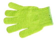 Hand bath sponge glove Stock Image