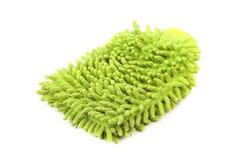 Hand bath sponge glove. Stock Photo