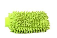 Hand bath sponge glove. Royalty Free Stock Photography