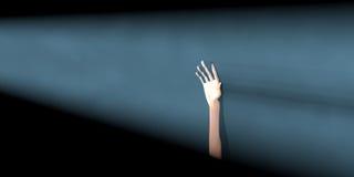Hand beam light Stock Image